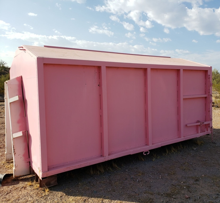 Beautiful Pink Mobile Storage Unit by The Dumpster Diva For Rent